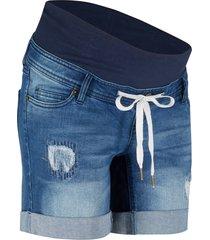 shorts di jeans prémaman con laccetto (blu) - bpc bonprix collection