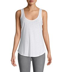high-low cotton-blend tank top