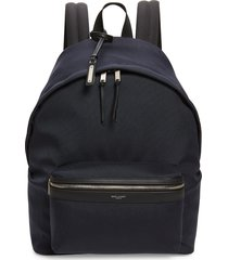 men's saint laurent canvas backpack - black