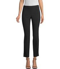 donna karan women's straight-leg trousers - black - size 8