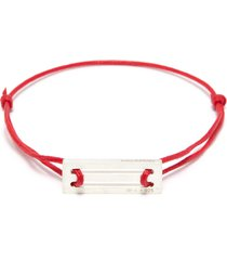 'le 25/10g' silver charm cord bracelet