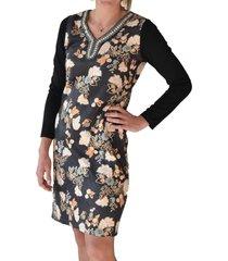 vestido estampado flores multicolor alexandra cid