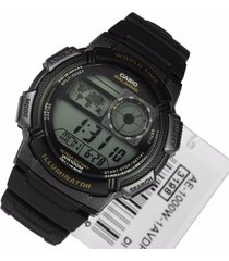 reloj casio ae-1000w-1av para caballero negro/ gris