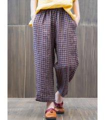 pantaloni a vita bassa elastici in vita per le donne