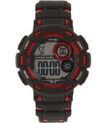 reloj negro-rojo virox