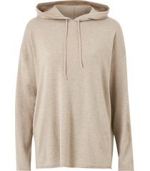 tröja slfinka cashmere ls knit hoodie