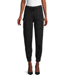 the kooples women's drawstring linen-blend pants - black - size 40 (6)