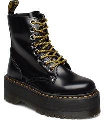 jadon max black buttero shoes boots ankle boots ankle boot - flat svart dr. martens