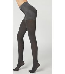 calzedonia 50 denier total shaper tights woman grey size 3