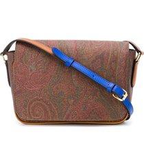 etro bolsa tiracolo com padronagem paisley - marrom
