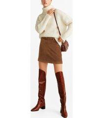 mango belted corduroy miniskirt