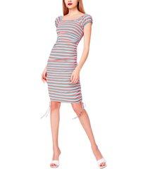 betsey johnson striped ribbed bodycon dress