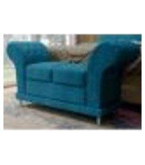sofá recamier divã com botões em captonê athenas - js móveis