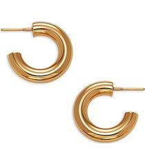 goldtone huggie hoop earrings