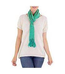 cotton scarf, 'eco fantasy' (guatemala)
