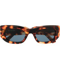 balenciaga eyewear chunky square-frame sunglasses - brown