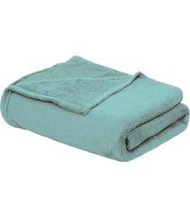cobertor beb㊠90cm x 1,10m verde - multicolorido - dafiti