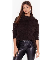 womens oversize up the competition sweater - black