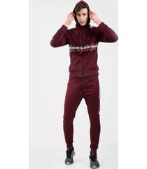 bravo jeans joggingpak heren - bordeaux