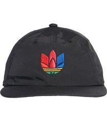 boné adidas originals trefoil t-r cap preto