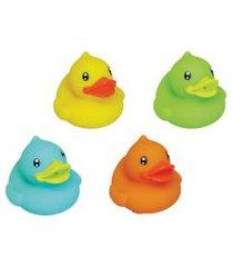 conjunto amiguinhos do banho pura diversão patinhos 4 peças colorido