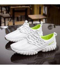 sneakers casual da uomo in tessuto traspirante in mesh traspirante