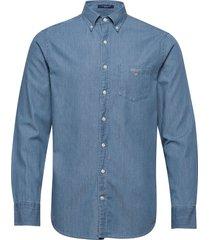 the indigo reg bd overhemd casual blauw gant