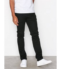 selected homme slhslim-leon 1001 black st jns w no jeans svart