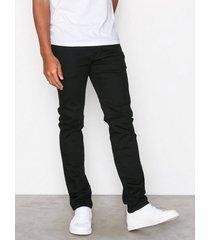 selected homme slhslim-leon 1001 black st jns w no jeans svart
