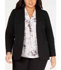 bar iii plus size open-front blazer, created for macy's