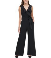 tommy hilfiger ruffled wide-leg jumpsuit