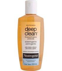 neutrogena deep clean adstringente - pele mista a oleosa 200ml