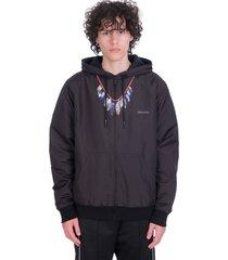 marcelo burlon sweatshirt in black polyester