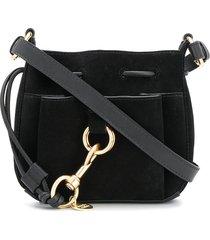 see by chloé hoop detail tote bag - black