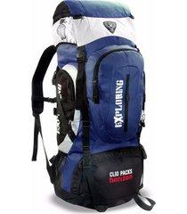 mochila cargueira clio camping azul