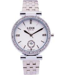 reloj dama marca loix -  ref l 1151-01 - plateado