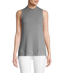 high-low sleeveless top
