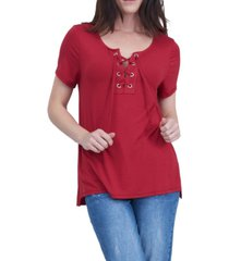 seven7 lace up commet tee