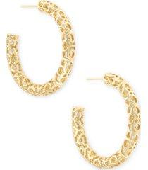 "kendra scott medium openwork tubular hoop earrings, 1.41"""