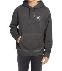 men's helmut lang overdye hoodie, size xx-large - grey
