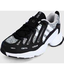 tenis lifestyle blanco-plateado-negro adidas originals eqt gazelle w