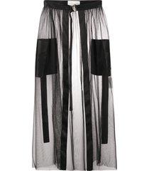 loulou tulle overlay skirt - black