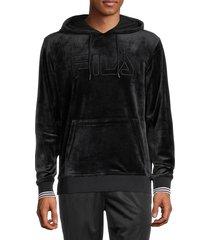 fila men's cashel logo hoodie - black - size s