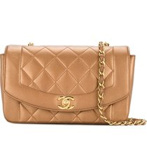 chanel pre-owned 1991-1994 quilted cc logo single chain shoulder bag -
