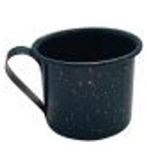 caneca xícara agata aço esmaltado leiteira rustica 650ml verde