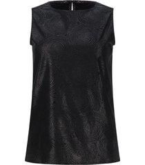blusa satinada color negro, talla 6