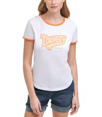 tommy jeans tommy cotton ringer t-shirt