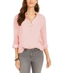 style & co textured solid popover top, created for macy's