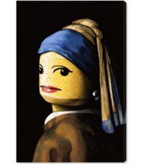 """oliver gal toy with the pearl earring canvas art, 16"""" x 24"""""""