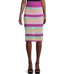 bcbgeneration women's striped knee-length skirt - size s